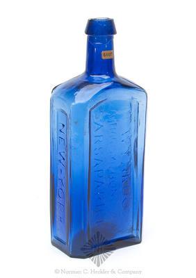 """""""Dr Wynkoop's / Katharismic Honduras / Sarsaparilla / New-York."""" Medicine Bottle, H #1361"""