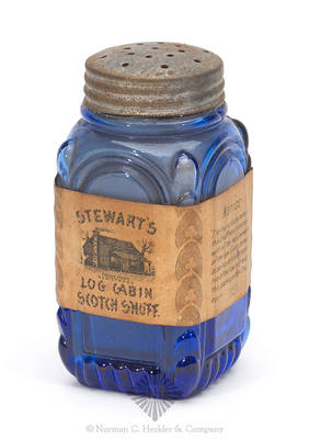 """Stewart's / Log Cabin / Scotch Snuff"" Label Only Jar"