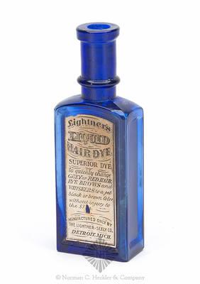 """""""Lightner's / Liquid / Hair Dye"""" Label Only Medicine Bottle"""