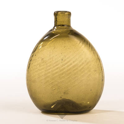 Unusual Diminutive Pitkin Type Flask, Similar forms and construction illustrated in McK plate 233