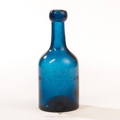 """"""" G & B / Hackettstown / N. J. """" Soda Water Bottle"""