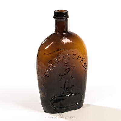 """Prospector And """" For Pike""""s Peak """" - Eagle Historical Flask, GXI-27"""