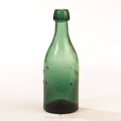 """"""" Union Glass Works / New London CT """" Soda Water Bottle, WB # CTS13a"""