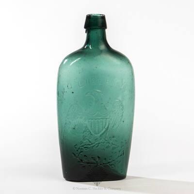""" Liberty "" And Eagle - "" Willington / Glass, Co "" Historical Flask, GII-64"