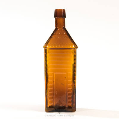 """"""" Old / Homestead / Wild Cherry Bitters """" Figural Bottle, R/H #O-37"""