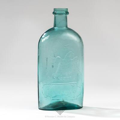 """Eagle And """"Zanesville / Ohio"""" - Eagle Historical Flask, GII-129"""