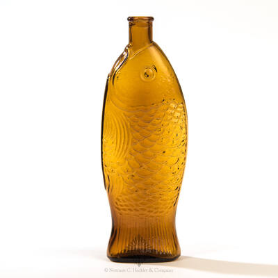 """"""" Doctor / Fisch's Bitters """" - """" W. H. Ware / Patented 1866 """" Figural Bitters Bottle, R/H #F-44"""