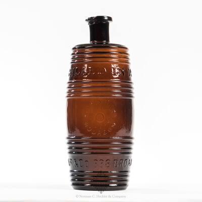 """ Old Kentucky / Bourbon / 1849 / Reserve / Distilled in 1848. / A.M. Bininger & Co. 19 Broad St. N.Y."" Figural Whiskey Bottle, BB # BPK-39"