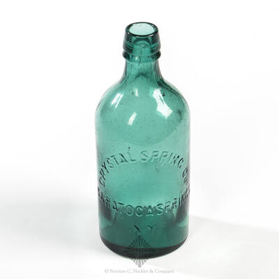 """"""" Crystal Spring Co / Saratoga Springs / NY """" Mineral Water Bottle, T # S-19"""