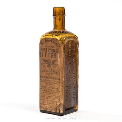 """ Dr. A. S. Hopkins / Union Stomach Bitters / Hartford Conn "" Bitters Bottle, R/H # H 180"