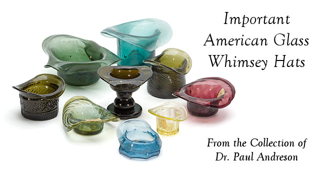 Important American Glass Whimsey Hats - The Dr. Paul Andreson Collection